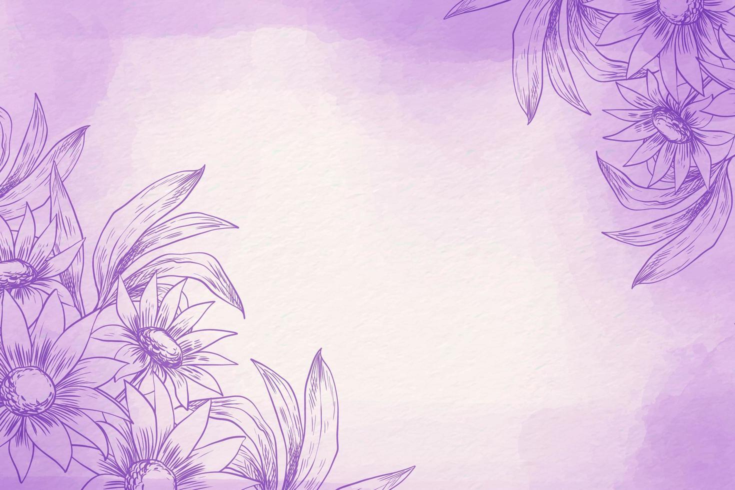 Puderpastell mit Blumen vektor