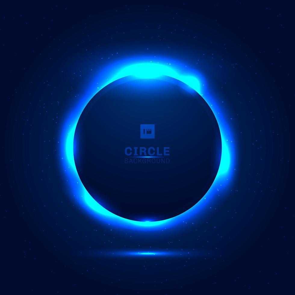 espacio azul abstracto eclipse solar vector