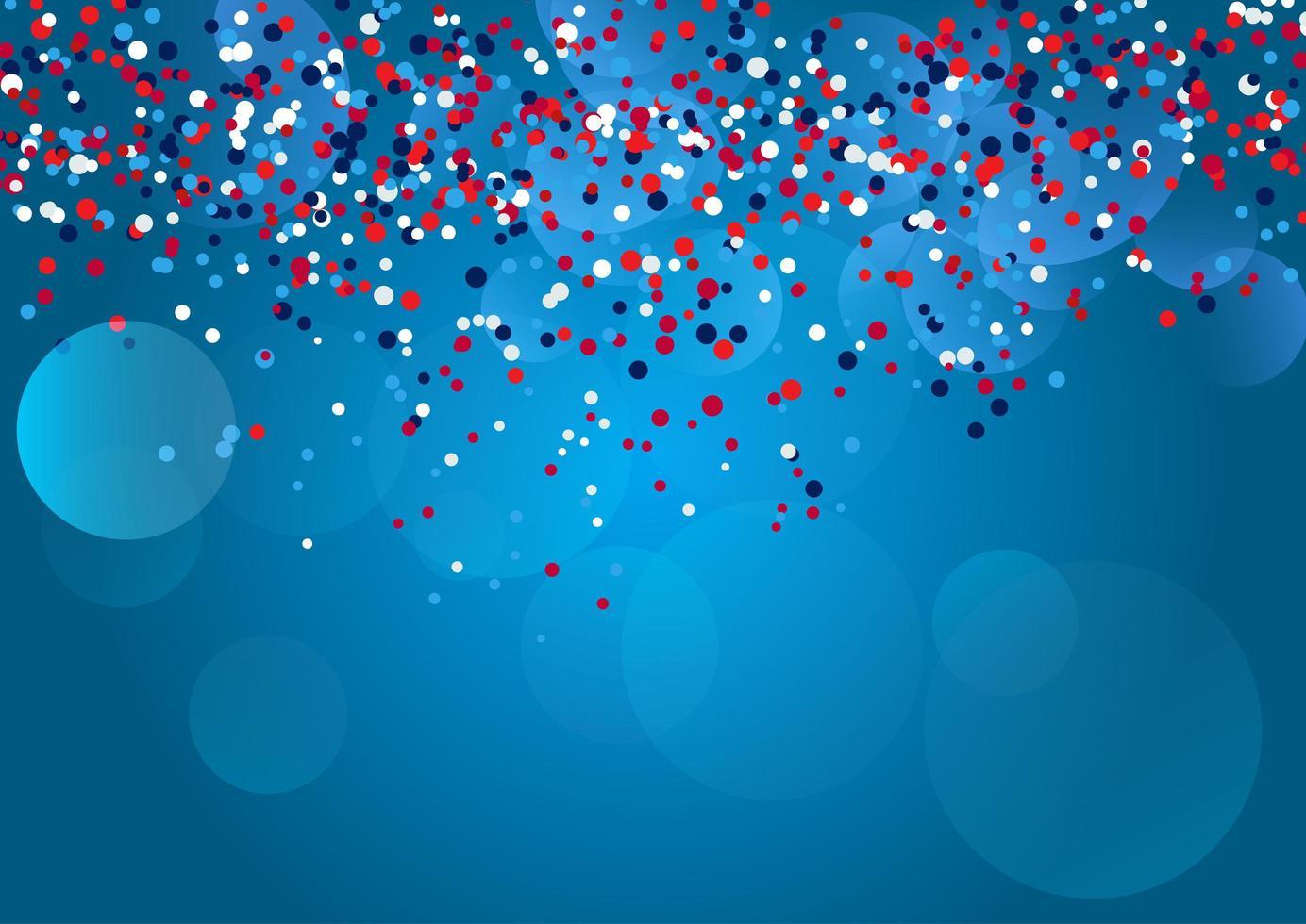rotes, blaues und weißes Konfetti. vektor
