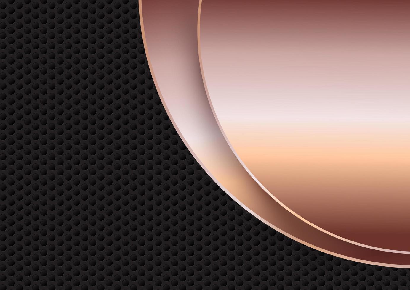cercle textures métalliques vecteur