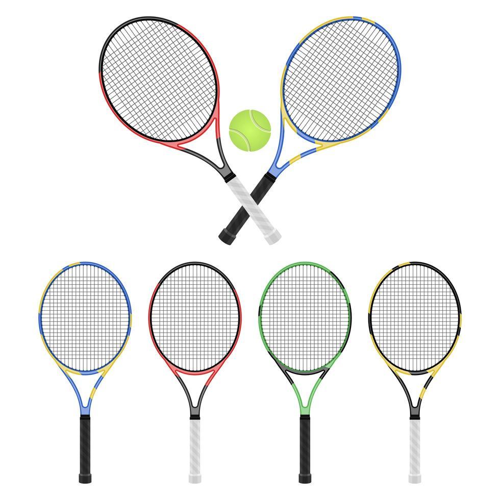 tennisracket geïsoleerd op een witte achtergrond vector