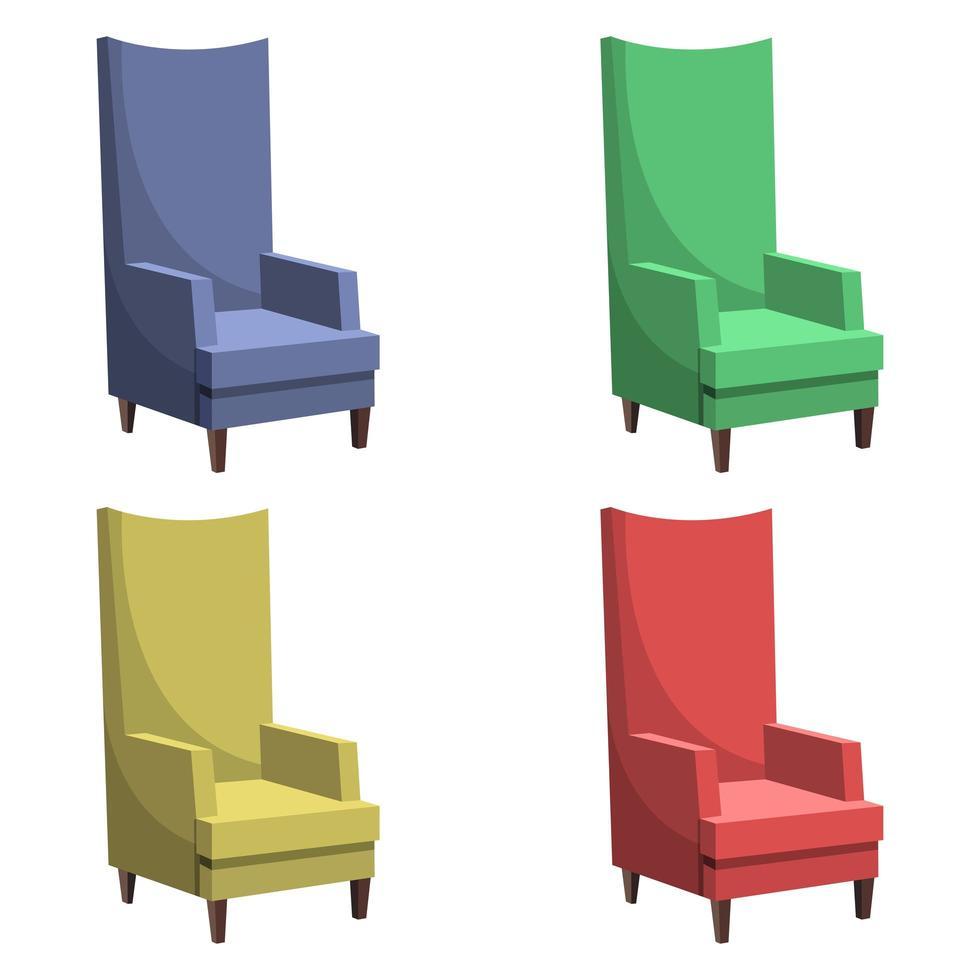 hermoso sillón conjunto vector