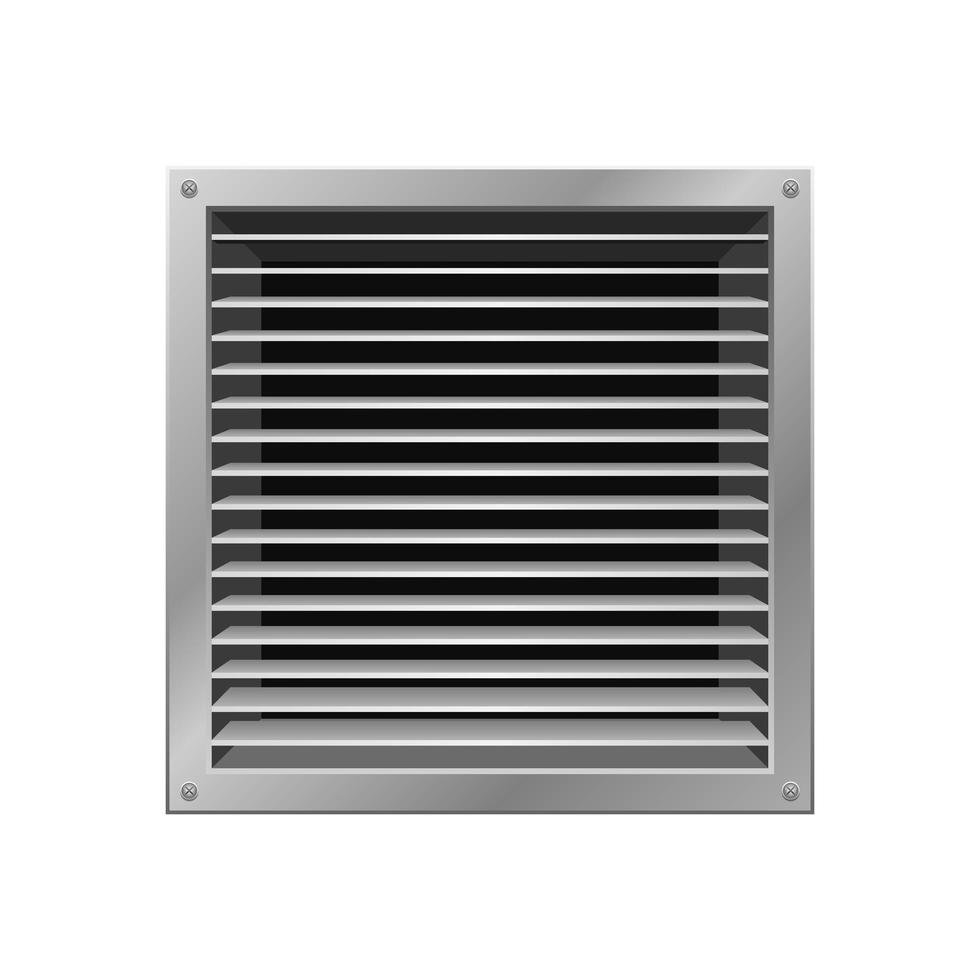 ventilación de baño aislado sobre fondo blanco vector