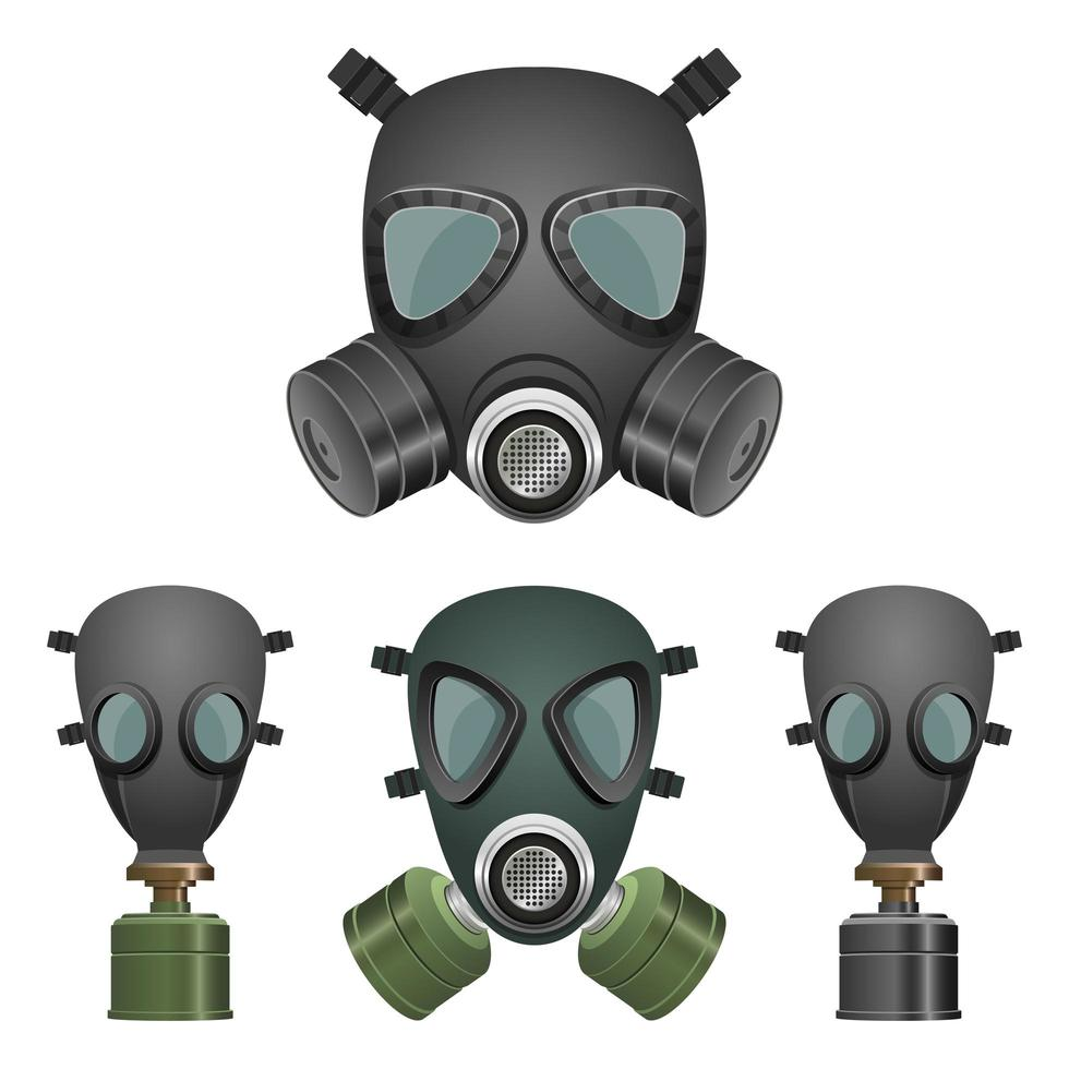 Gas mask isolated on white background vector
