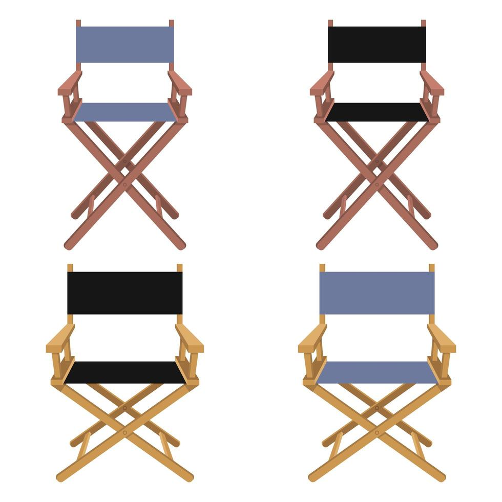 filmregisseur stoel geïsoleerd op een witte achtergrond vector