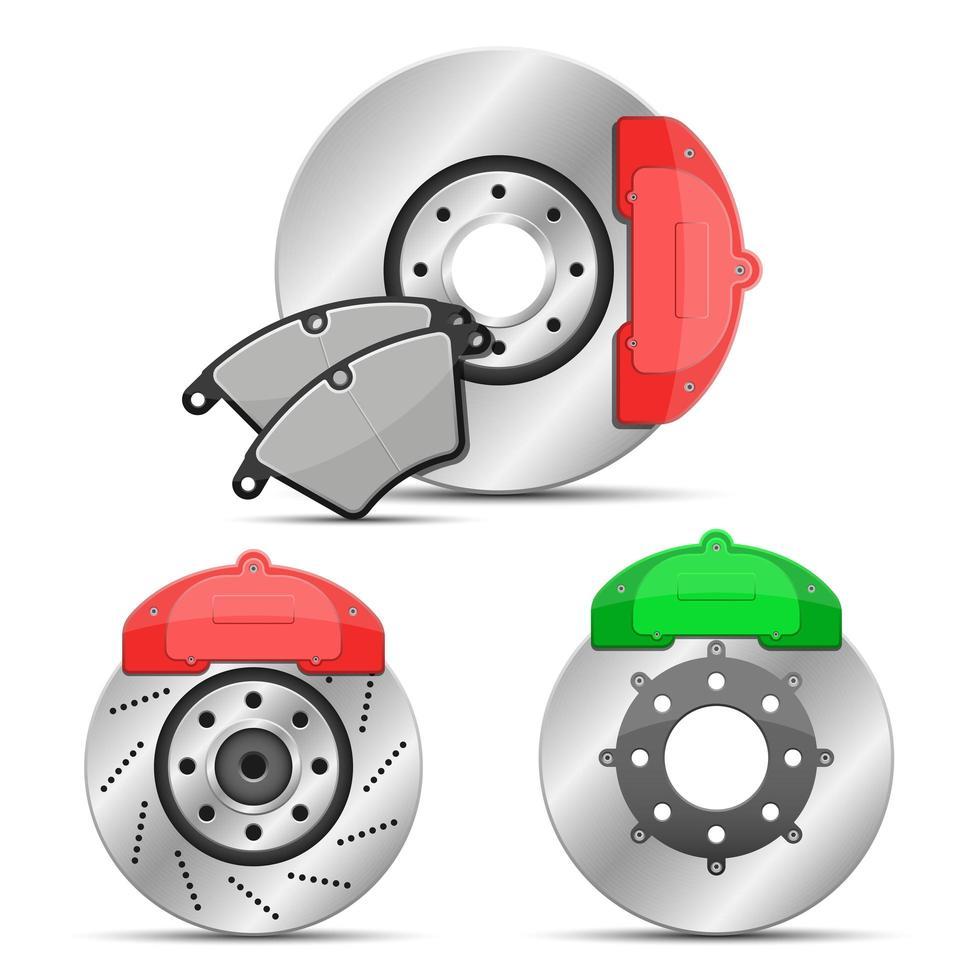 disque de frein isolé sur fond blanc vecteur
