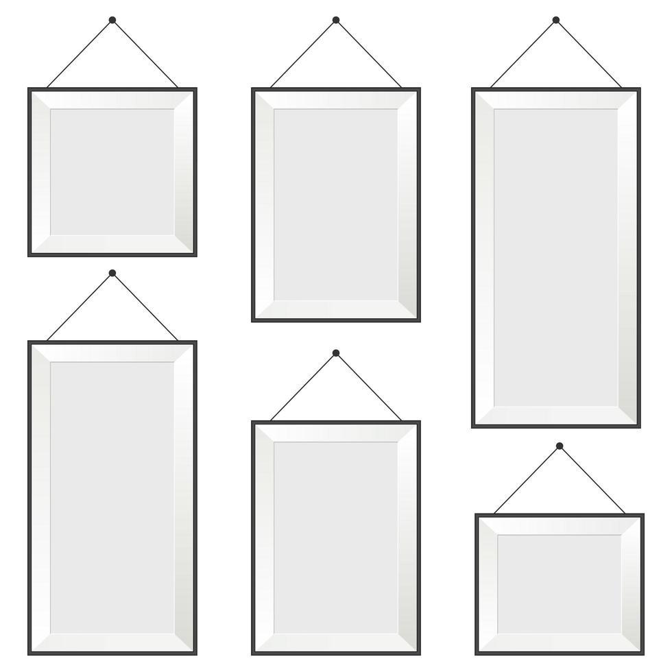 fotolijst set geïsoleerd op een witte achtergrond vector