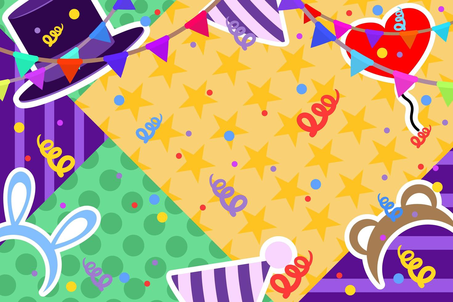 kleurrijk verjaardagsontwerp vector
