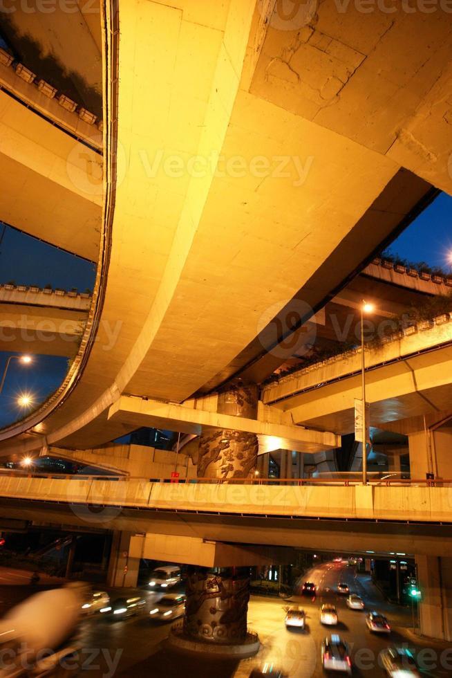 autopista de intercambio foto