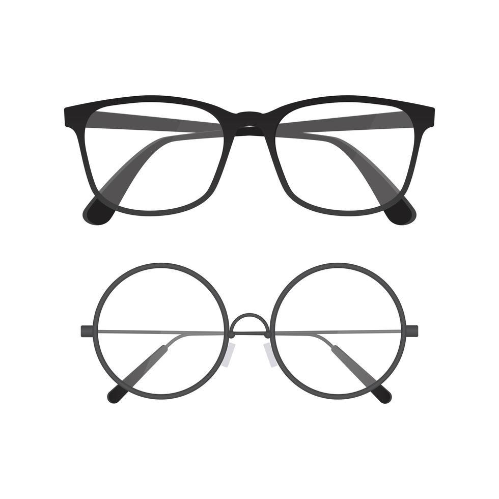 conjunto de design de óculos vetor