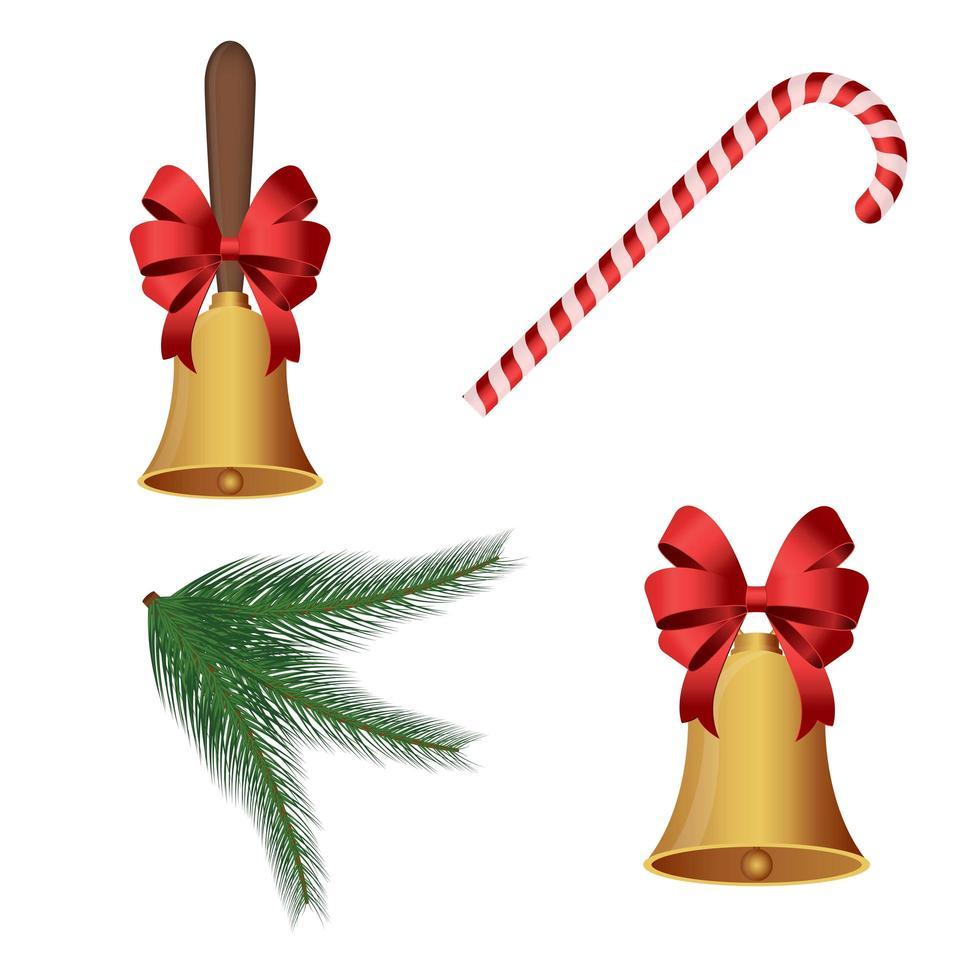 decoração de natal com sinos vetor