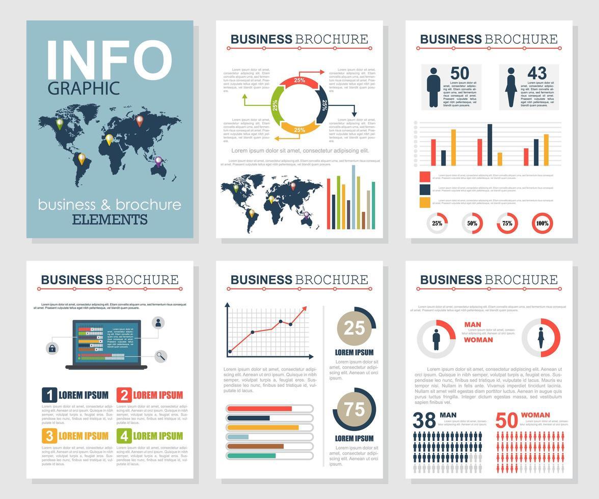 infographic zakelijke brochure set vector