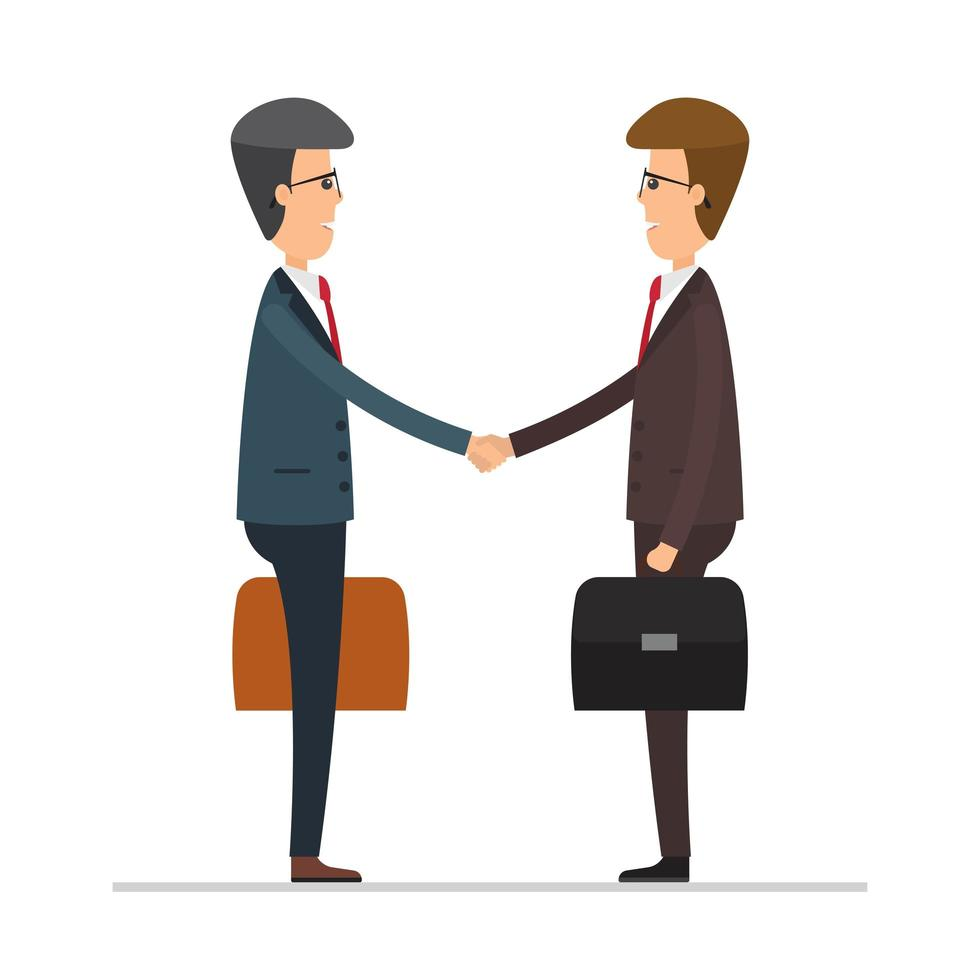Business men shaking hands vector