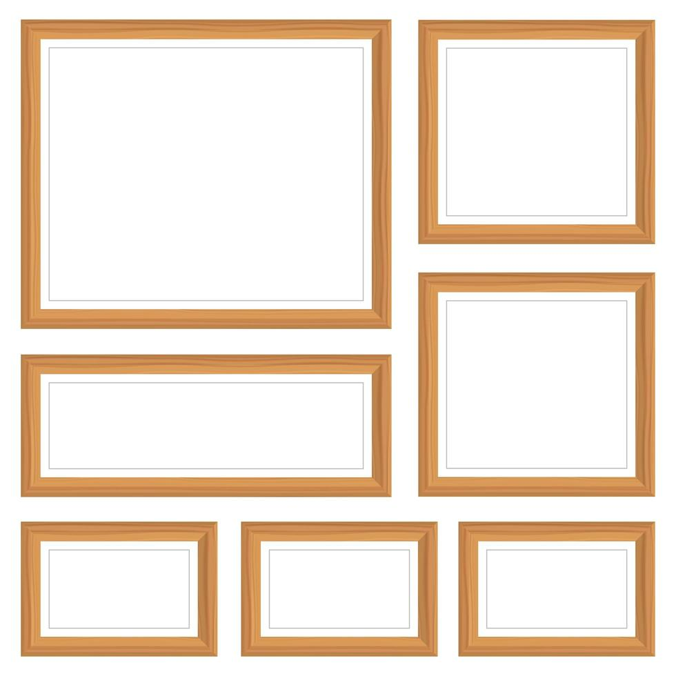 conjunto de maquete de moldura de foto vetor