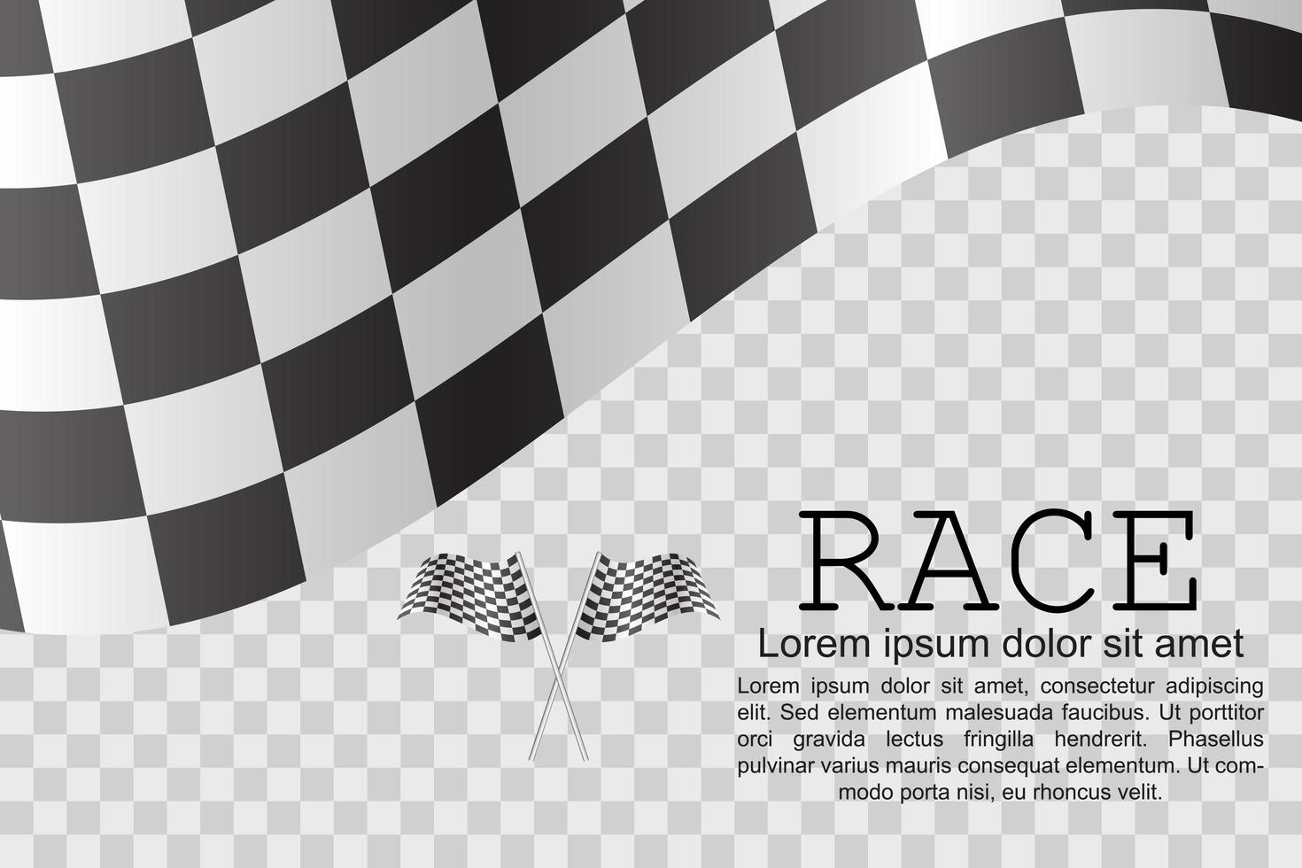 bandeiras de corrida e design padrão xadrez vetor