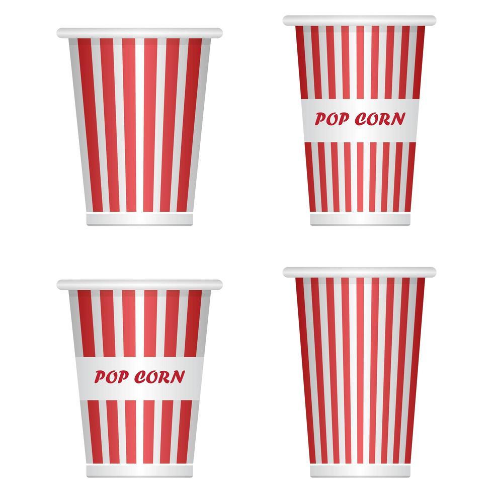 leere Popcorn-Eimer auf Weiß vektor