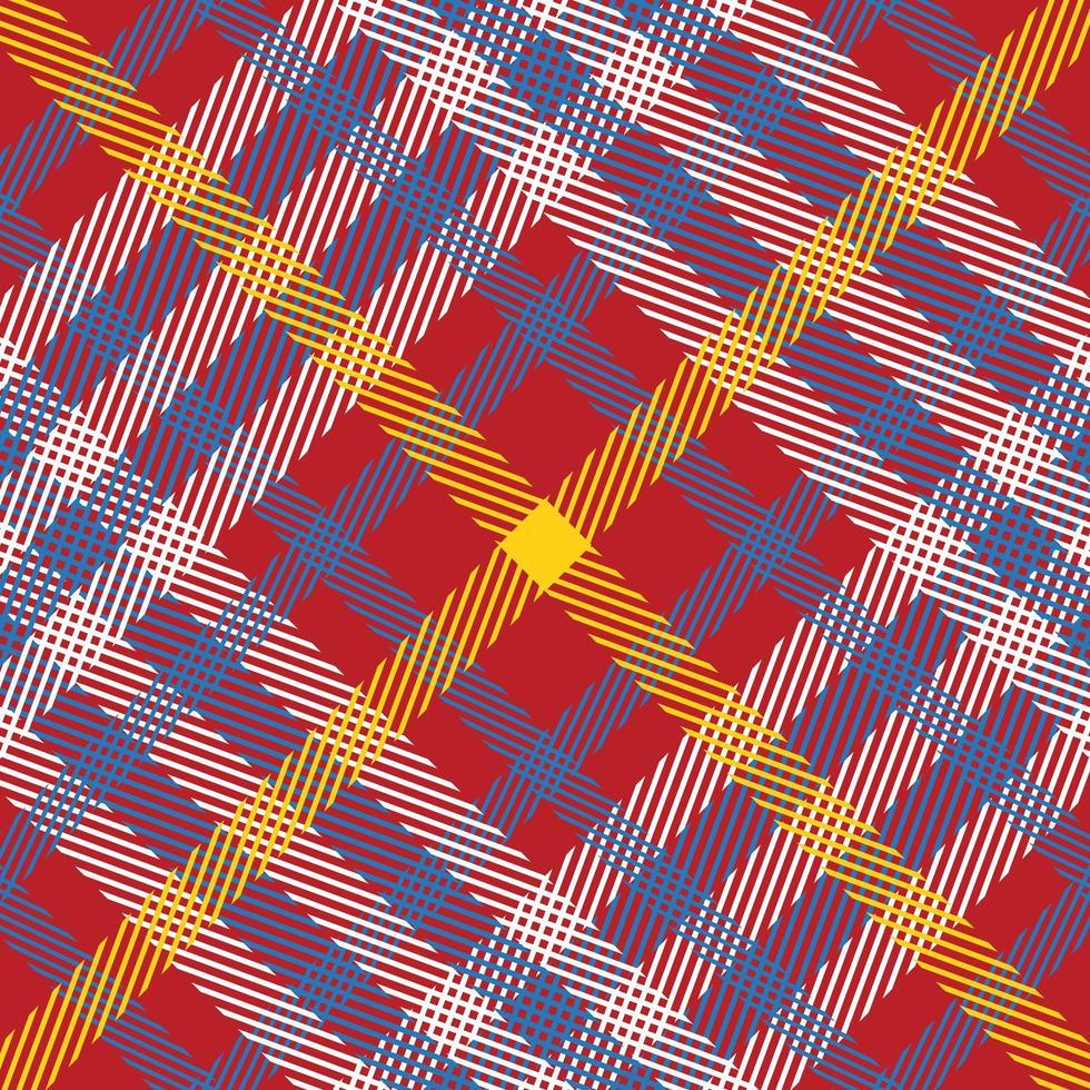 rood, wit, geel, blauw geruite naadloze patroon vector