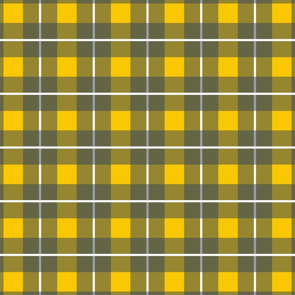 patrón sin costuras a cuadros amarillo, gris a cuadros verticales vector