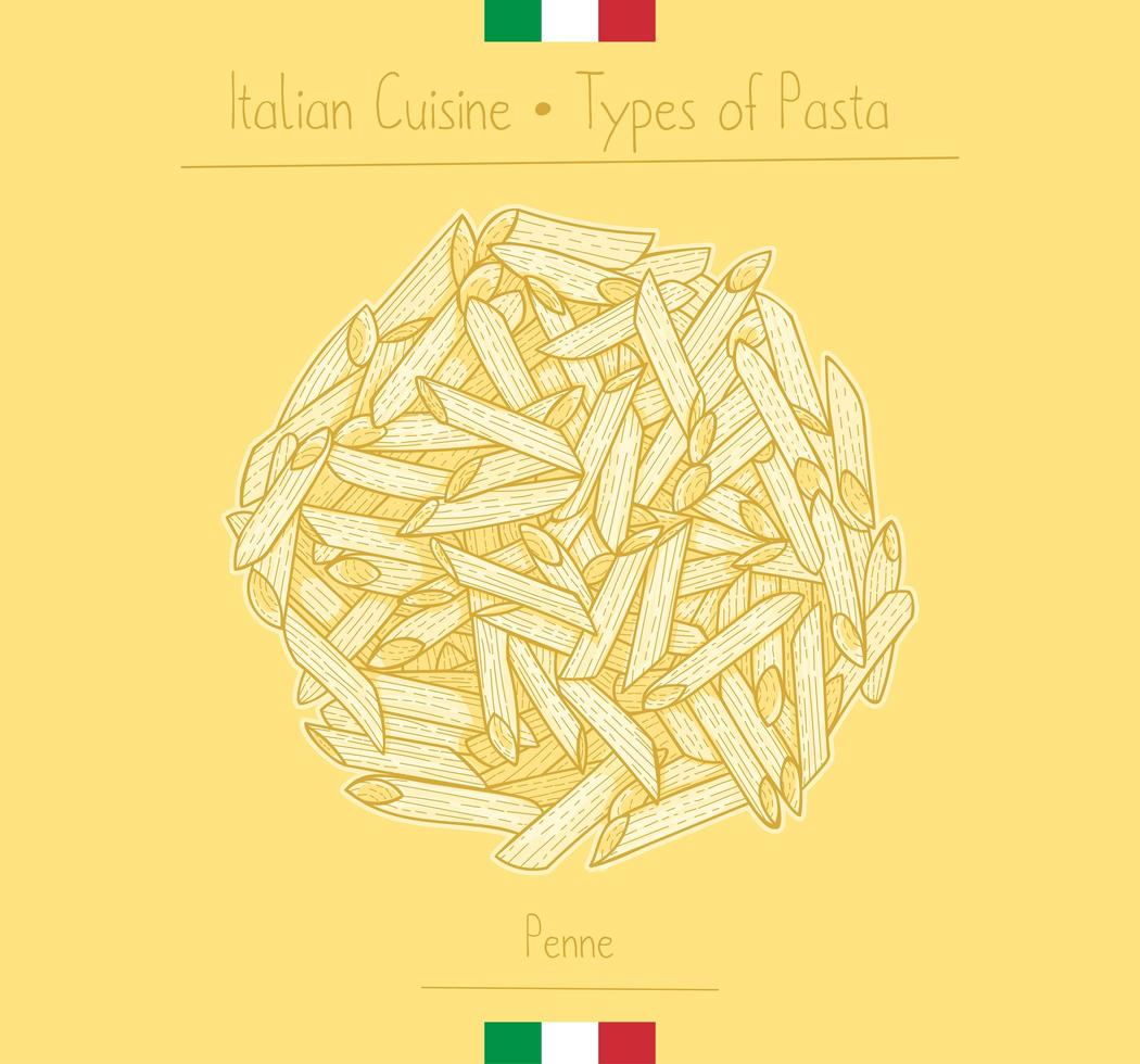 penne alimentari italiane vettore