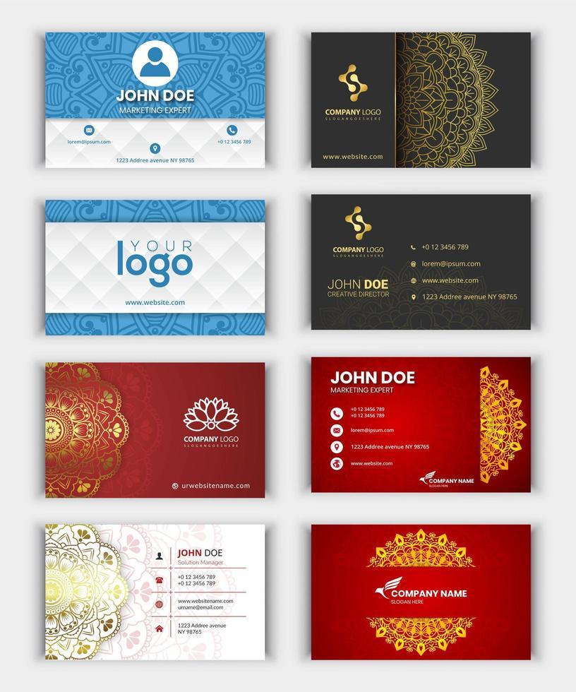 colección moderna de tarjetas de visita vector