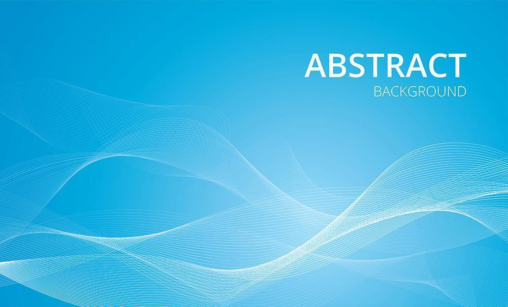White wavy lines on blue gradient vector