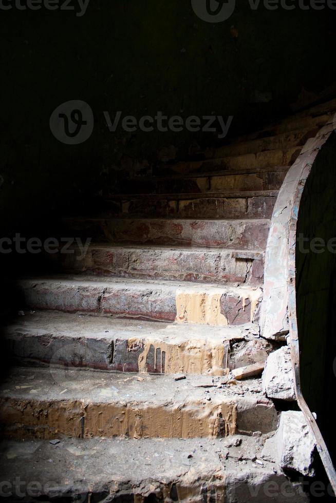 old broken staircase photo
