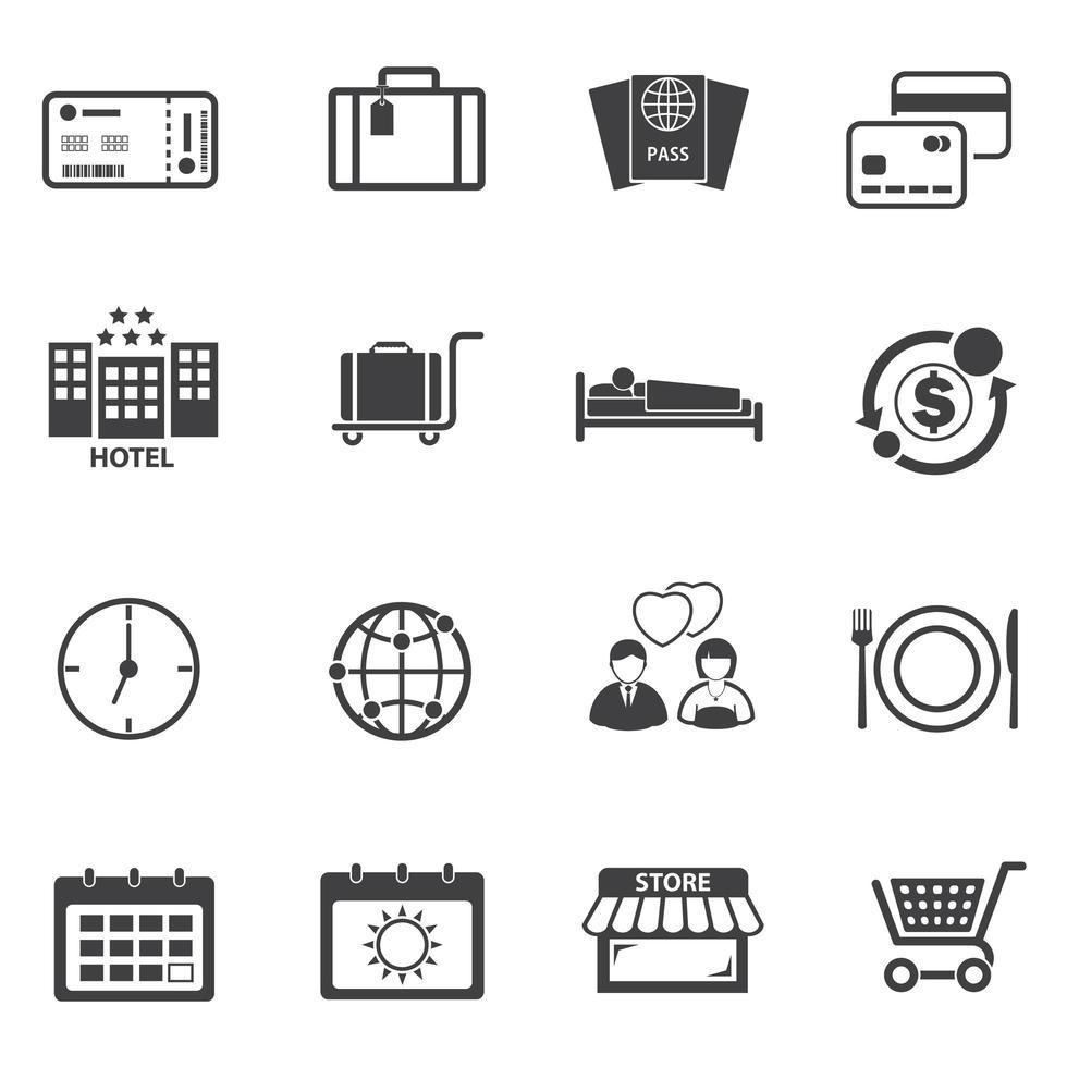 Tourist Travel Icons Set vector