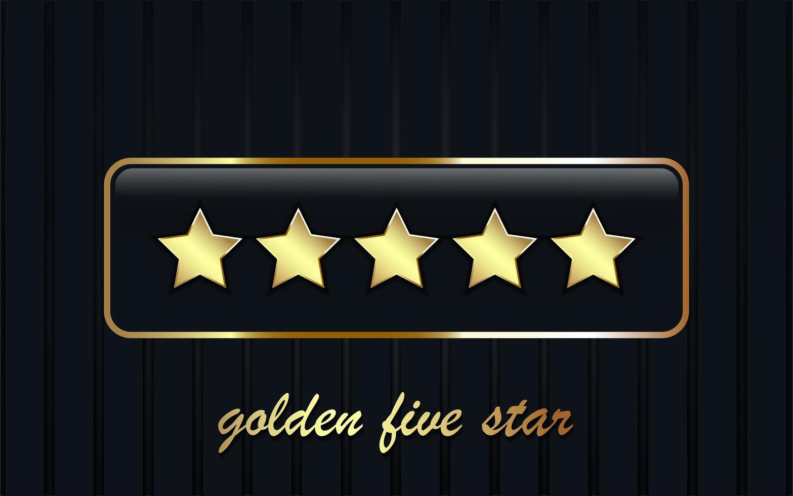 Fondo de cinco estrellas de lujo vector