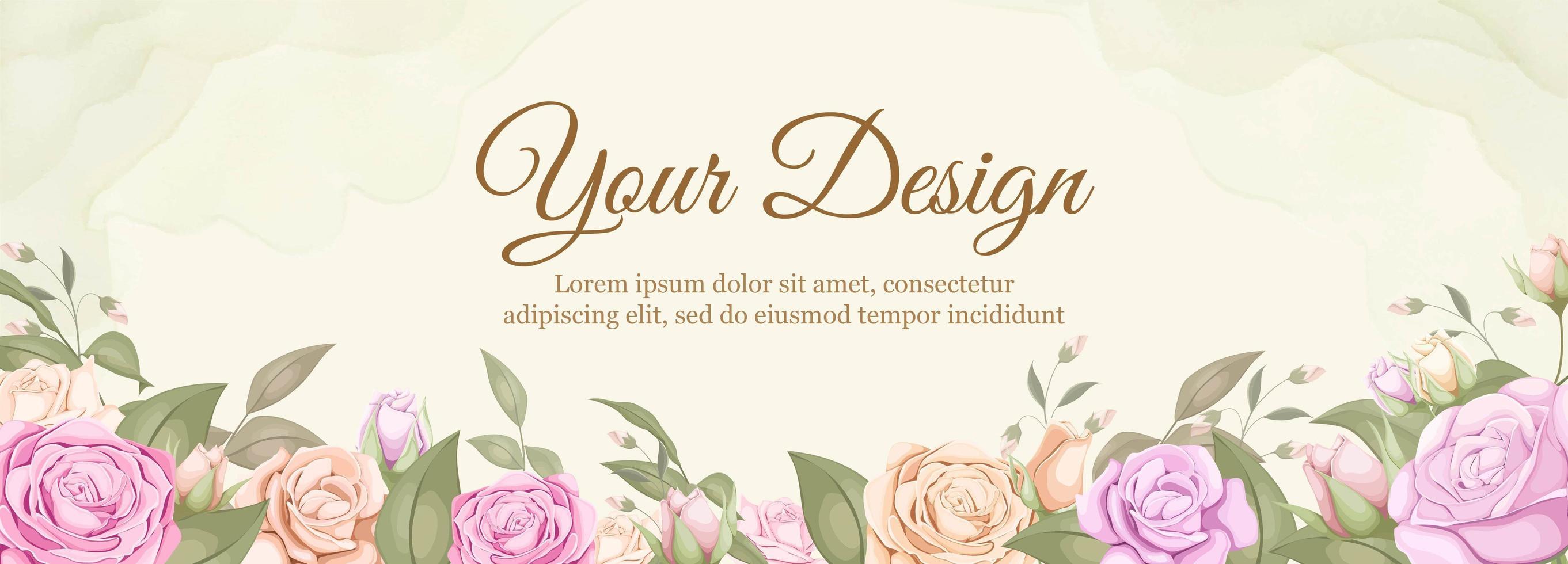 Rose Wedding Banner Download Free Vectors Clipart Graphics Vector Art