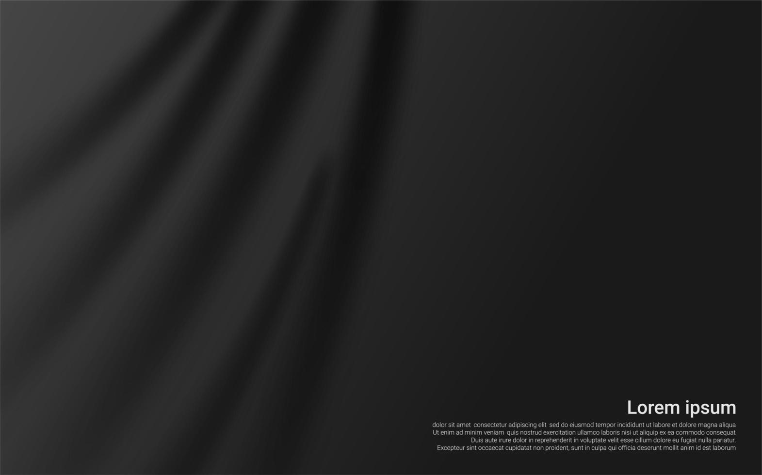 textura de cortina negra de lujo vector