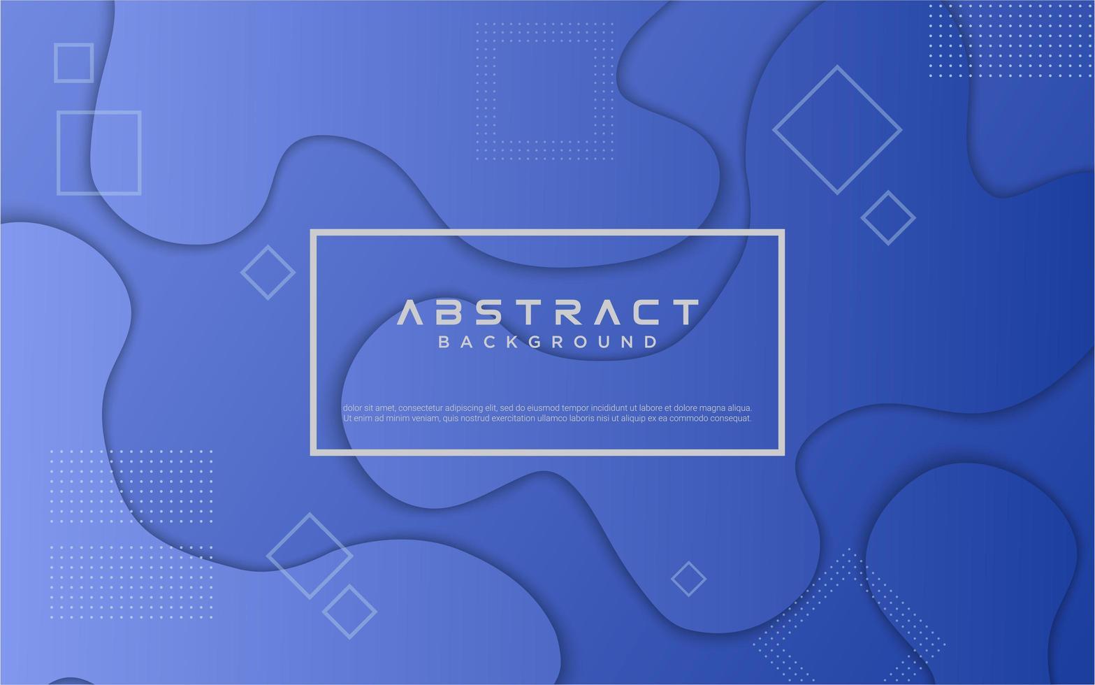 diseño de forma fluida degradado azul vector