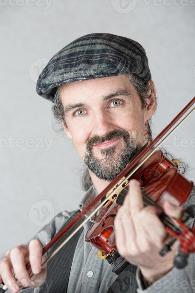 cerca de violinista irlandés foto