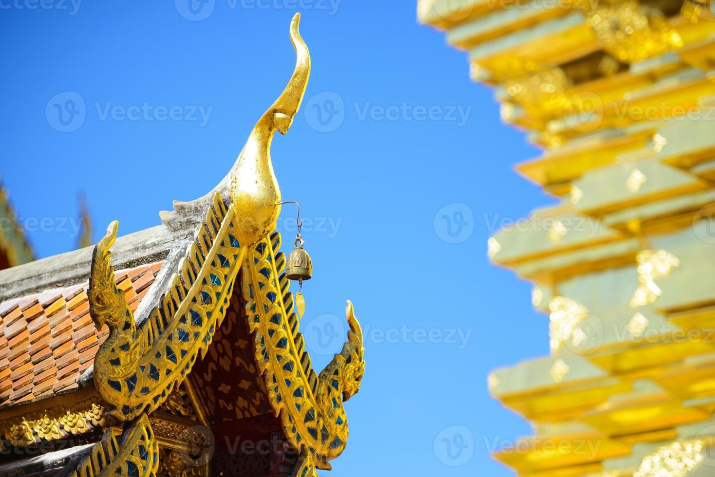 Roof of the Wat Phra That Doi Suthep photo