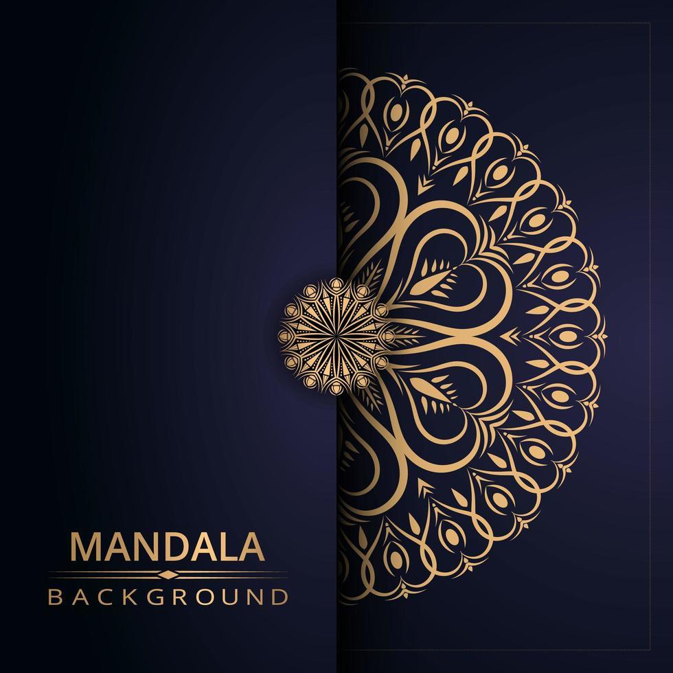 Fondo de mandala con estilo arabesco dorado vector