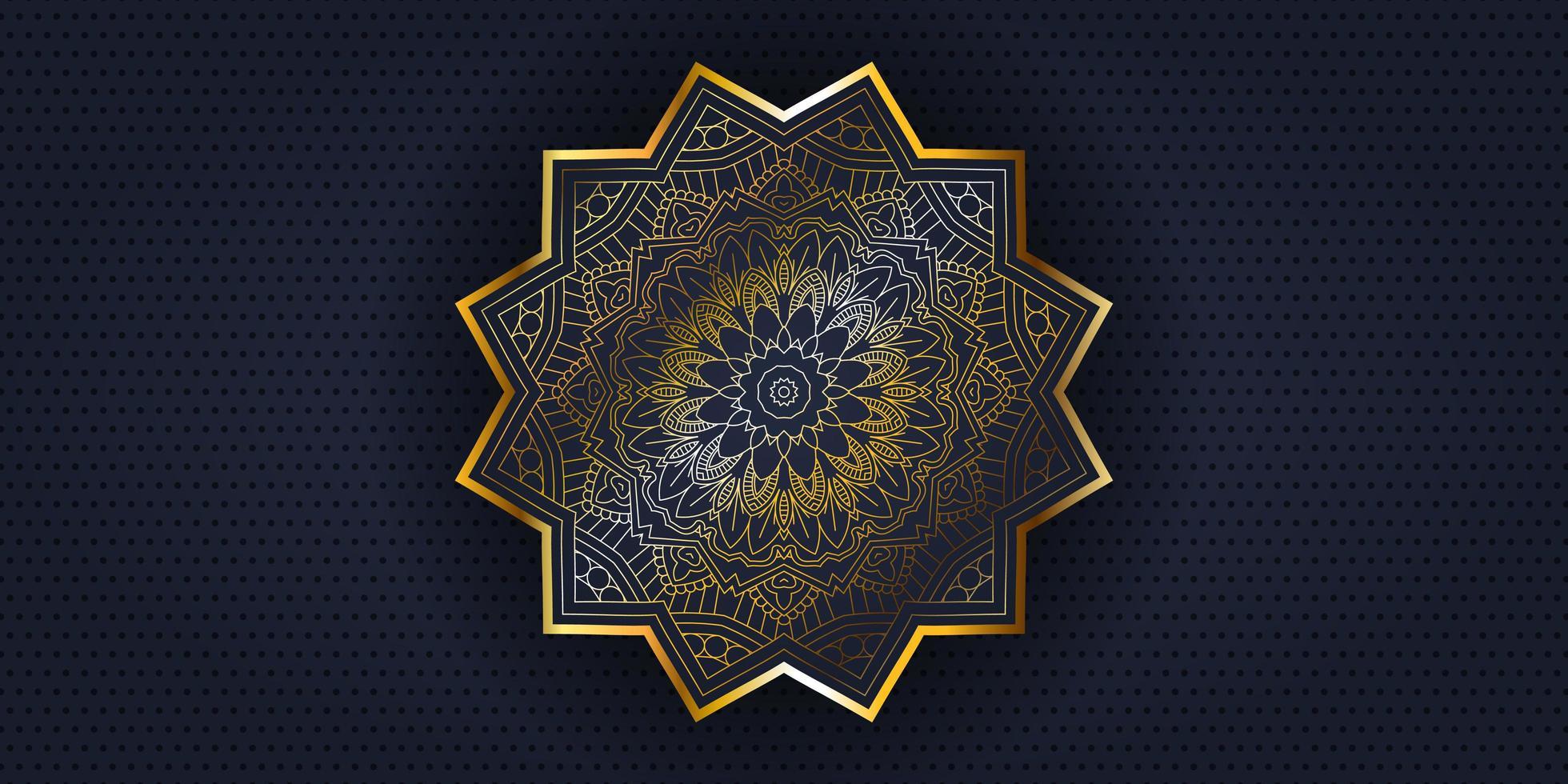 banner de design decorativo mandala vetor