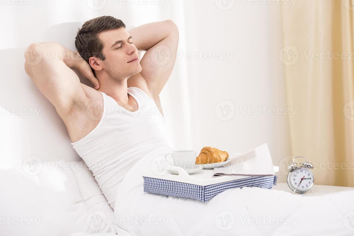 Breakfast in bed photo