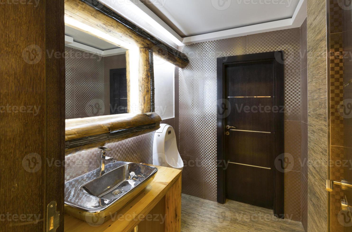 Modern public restroom in cafe photo