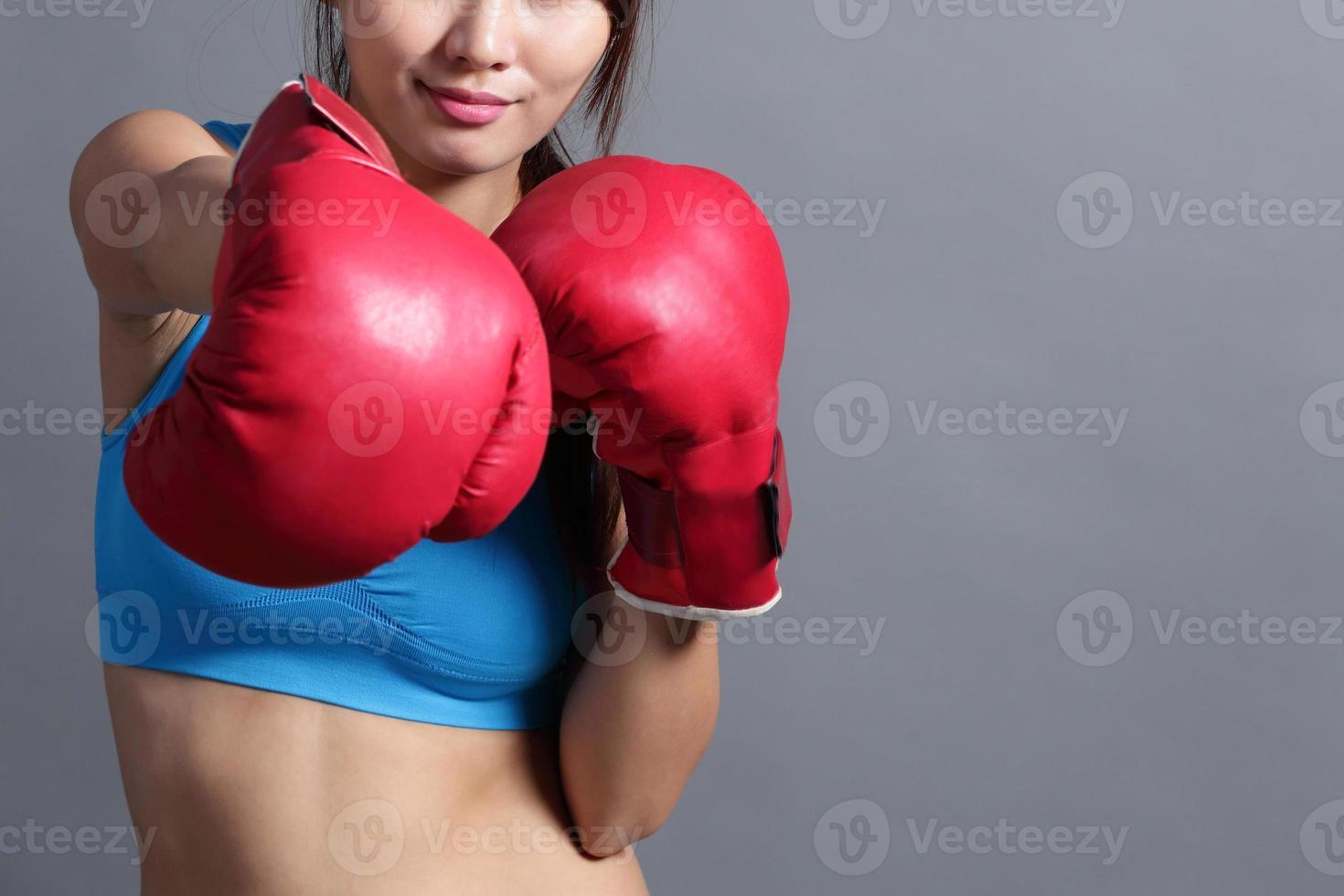 Boxing woman photo