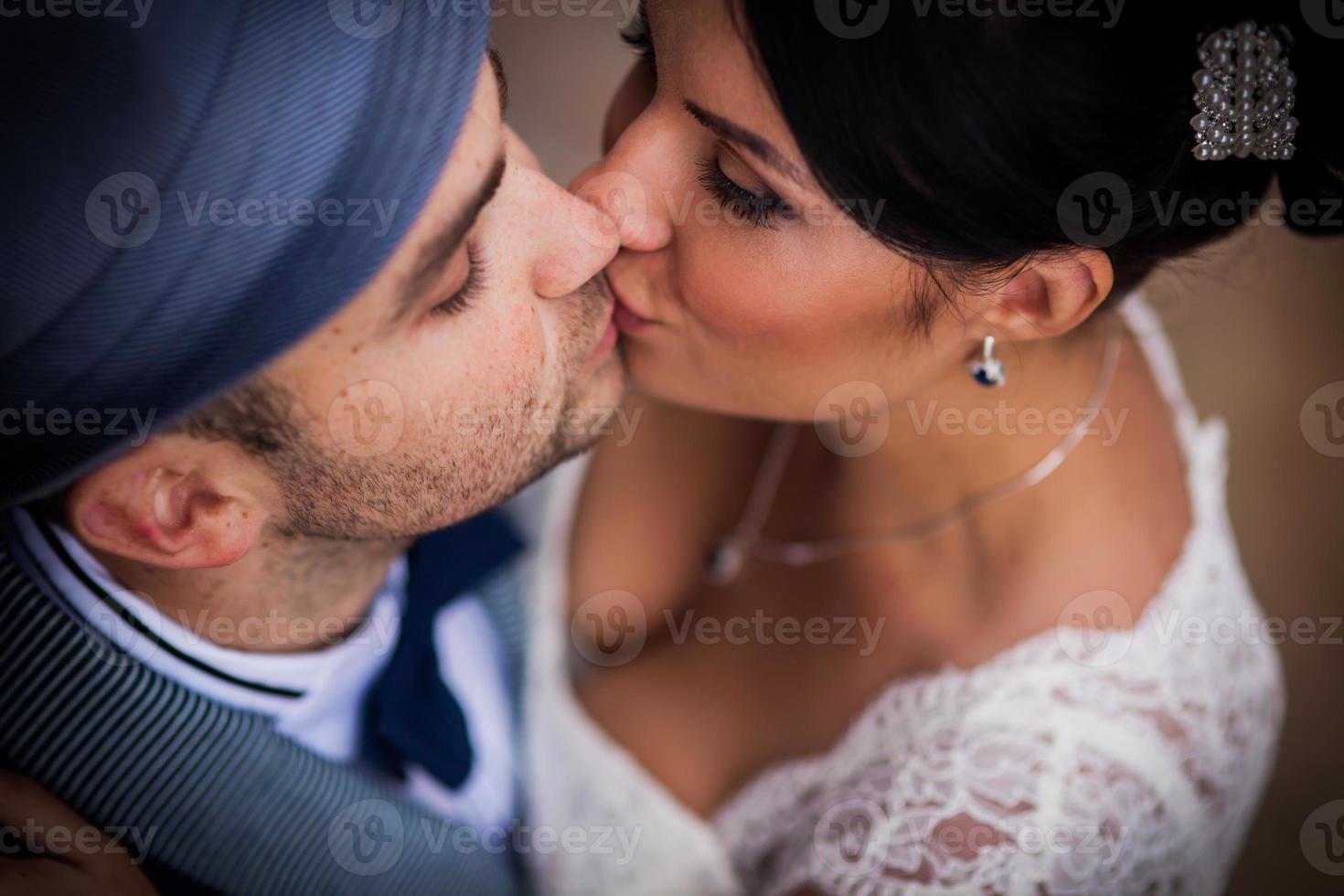 kiss, top view photo