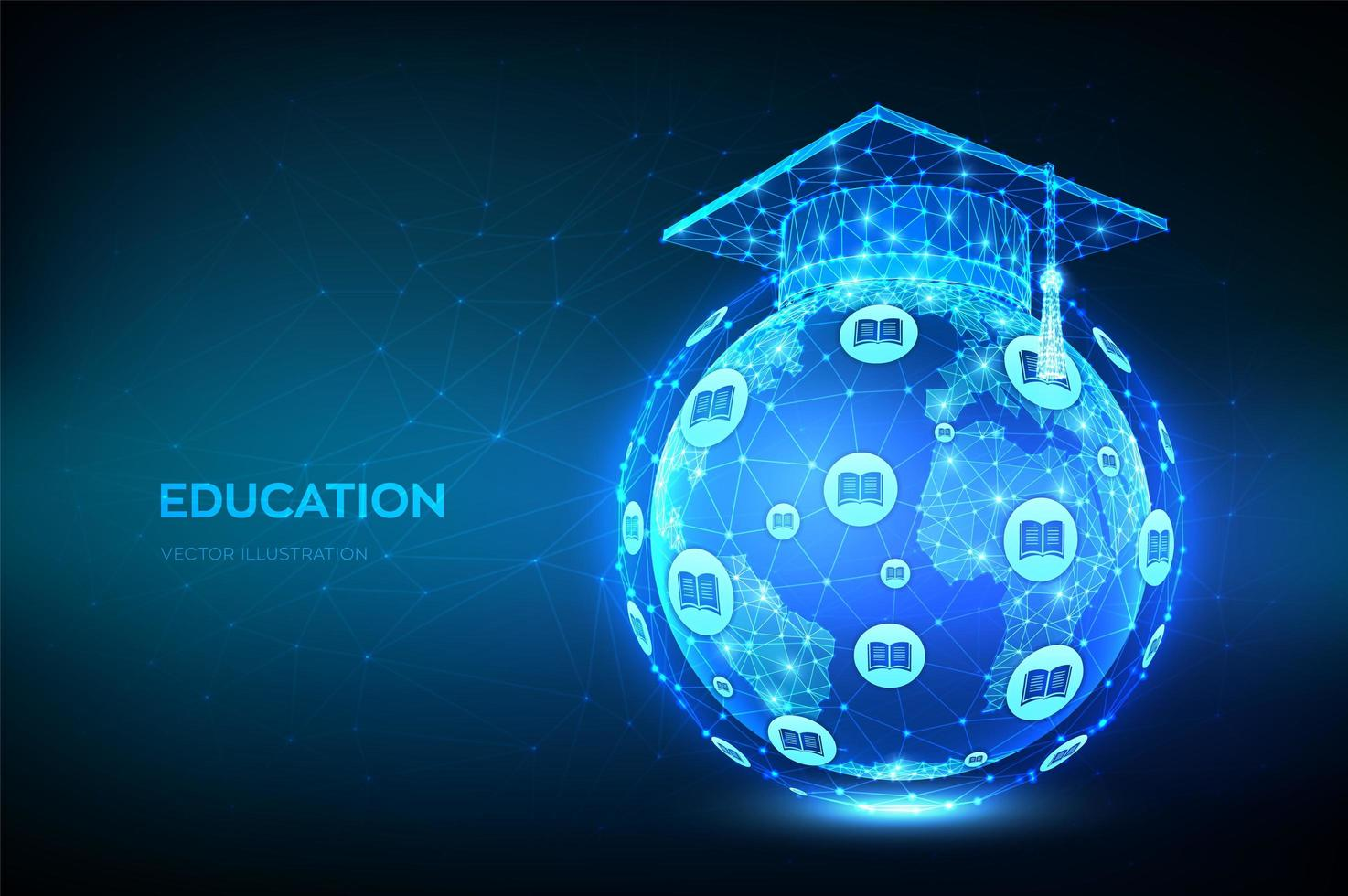 e-learning educación en línea vector