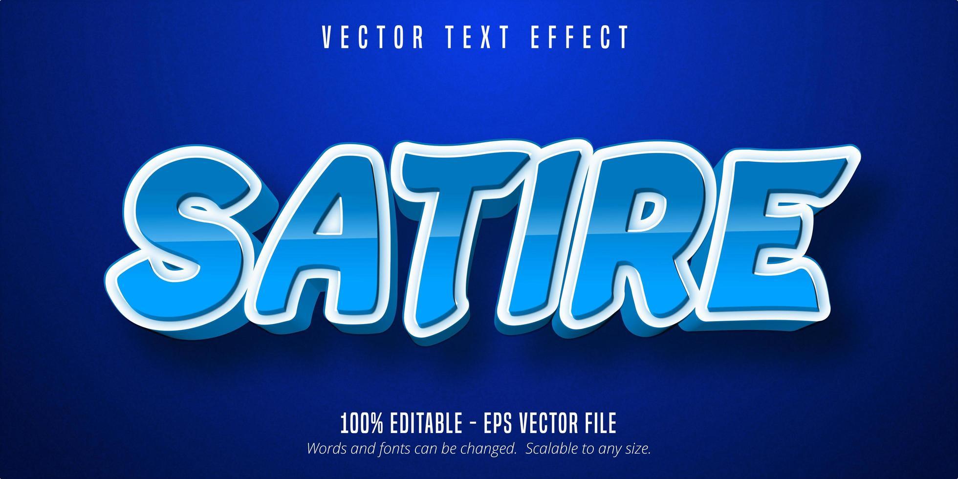 efecto de texto de sátira vector