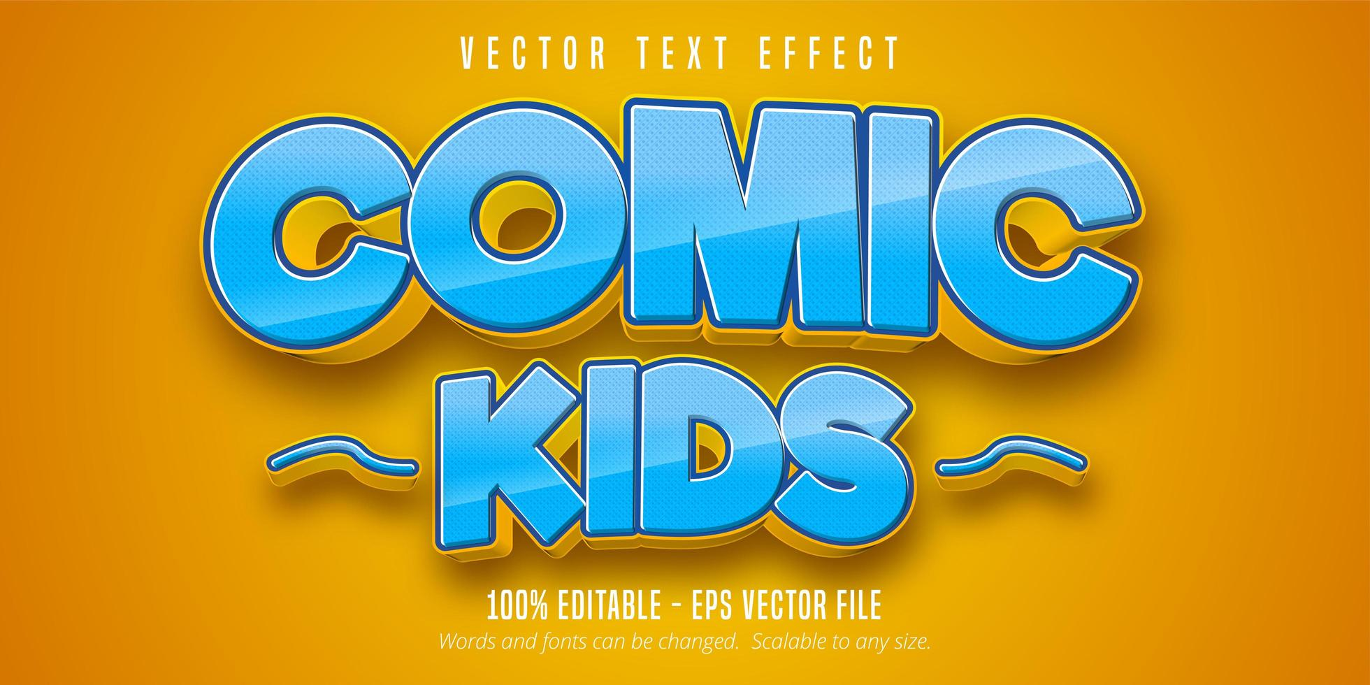 Comic Kids Text Effect  vector