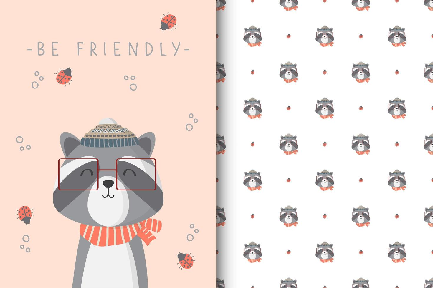Be Friendly Racoon vector