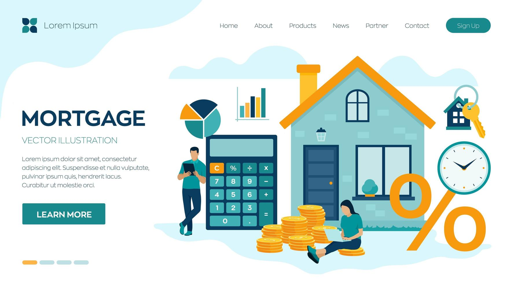 House loan or money investment to real estate vector