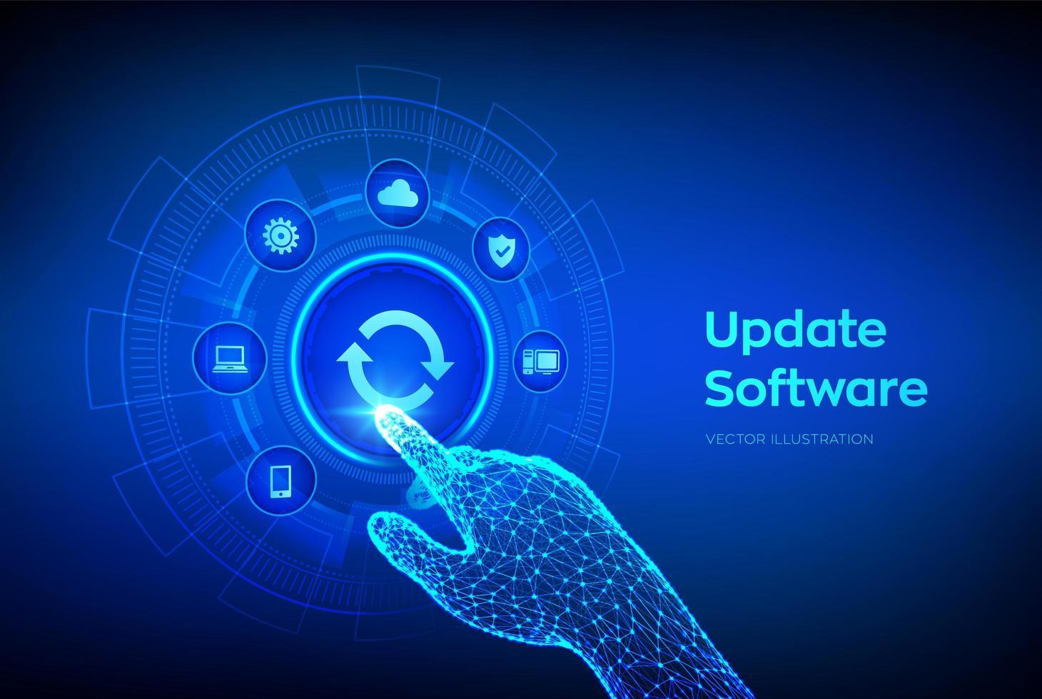 Upgrade Software version  vector