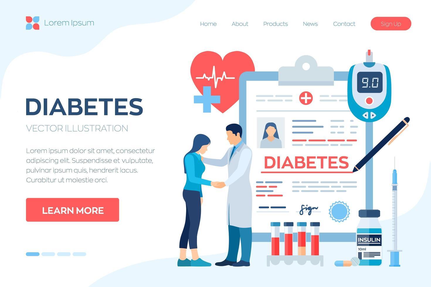 Medical diagnosis - Diabetes vector