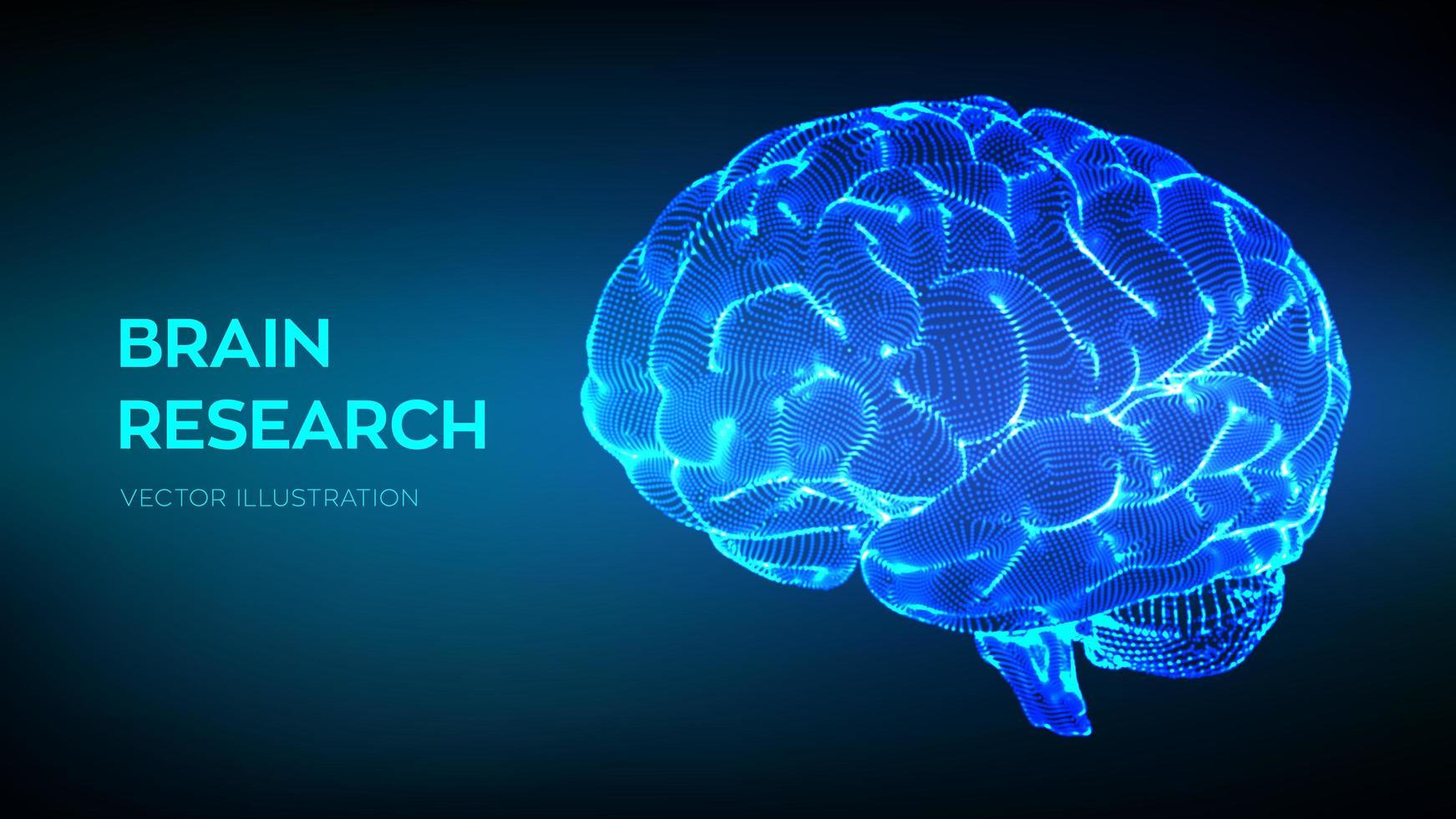 pesquisa do cérebro humano vetor