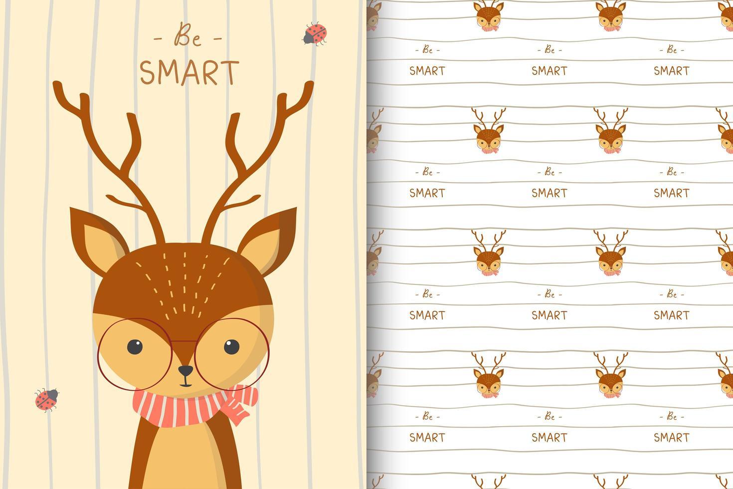 Be Smart Deer Pattern vector