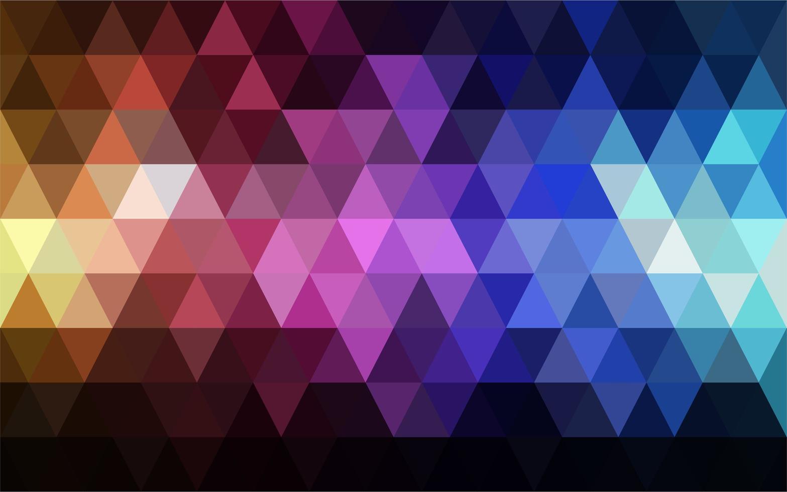 Dark triangle background vector