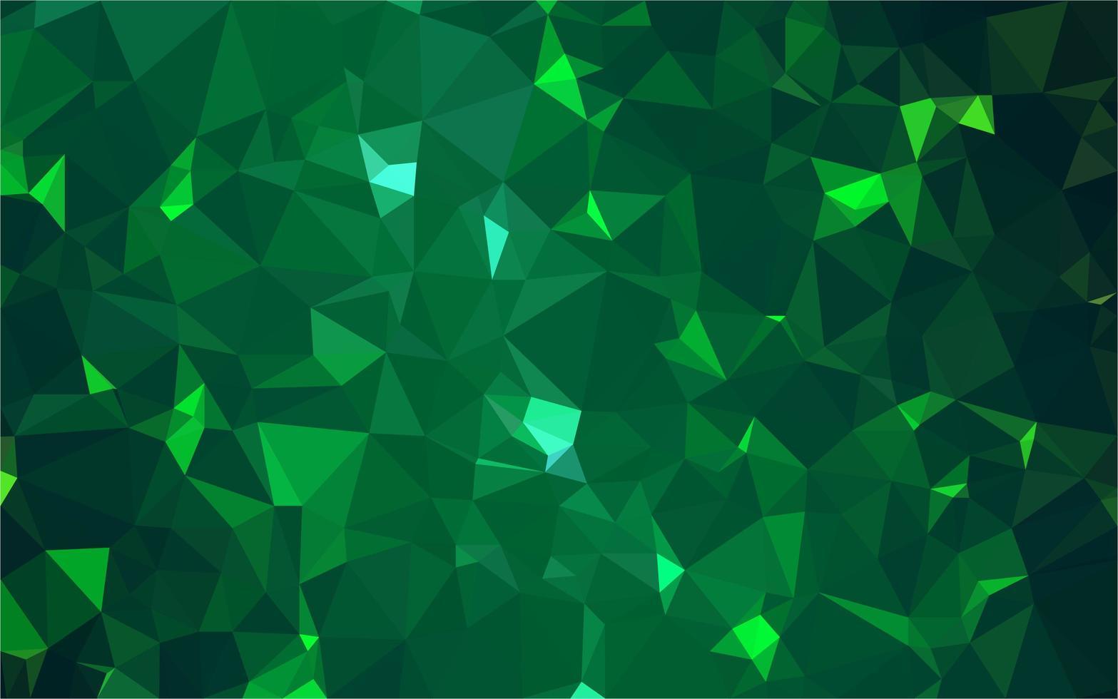 Green polygonal background vector